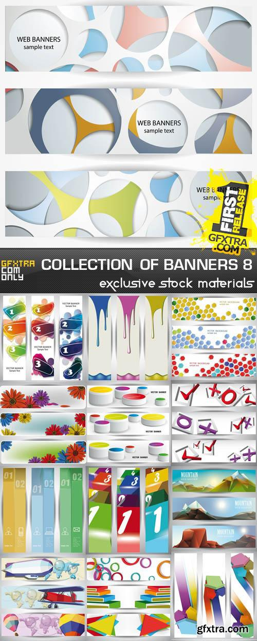 Collection of vector banners vol.8, 25xEPS