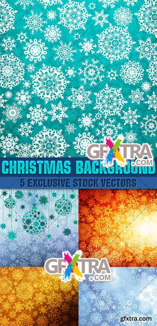 Beautiful backgrounds for Christmas and New Year - Vector