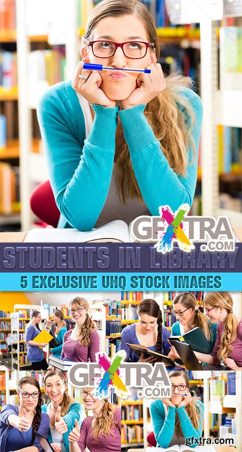 Students in library - PhotoStock