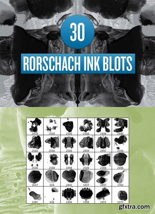 Rorschach Inc Blot Photoshop Brushes
