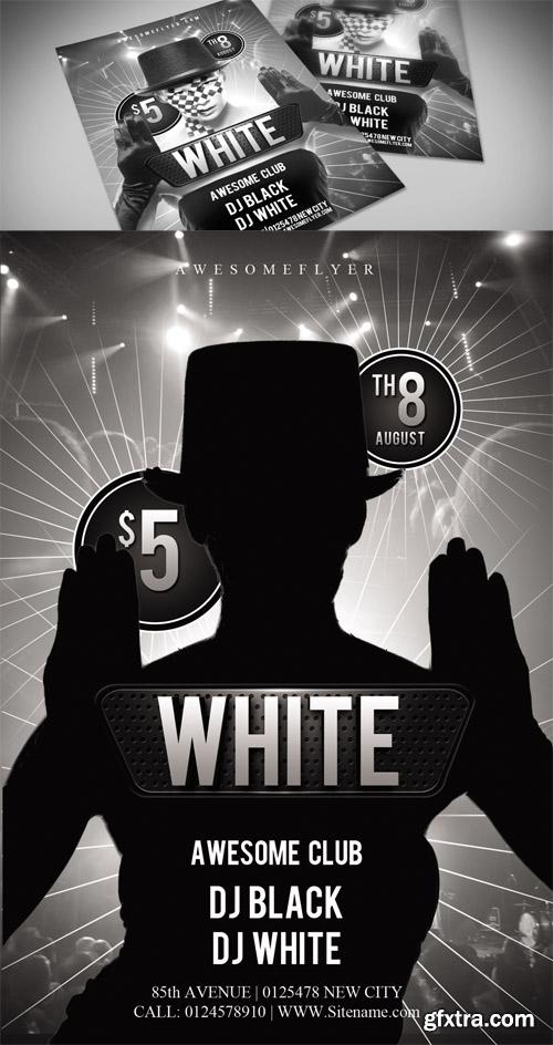 Black White Party Flyer Template