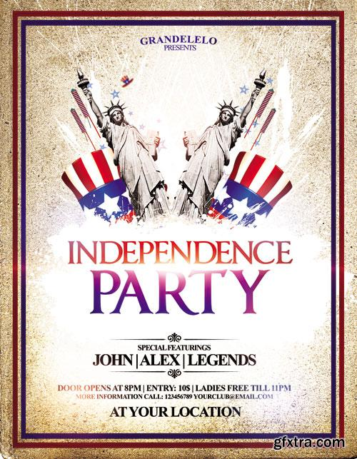 I Want You 4th July Party Flyer Template