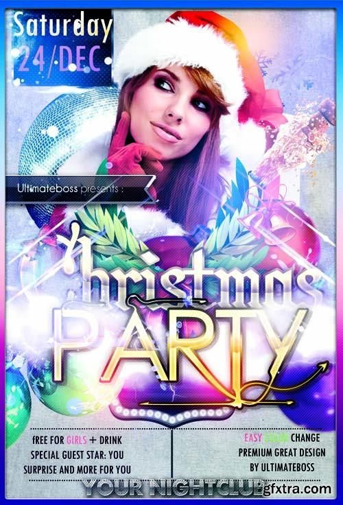 Party Flyer Template - Christmas