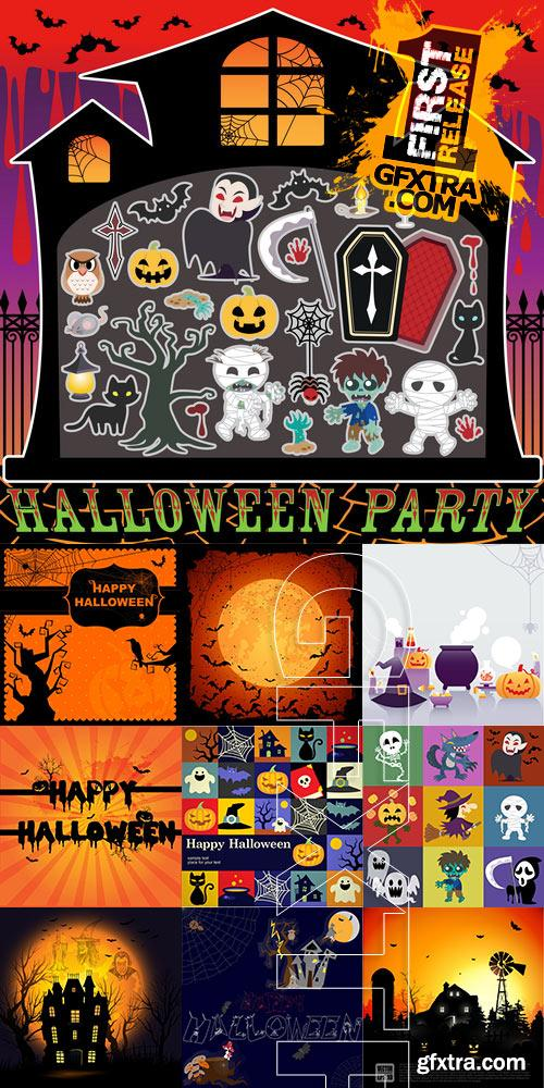 Amazing SS - Halloween background 3, 25xEPS