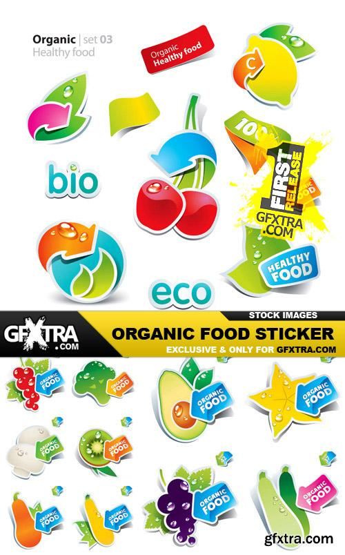 Organic Food Sticker - 45 Vector