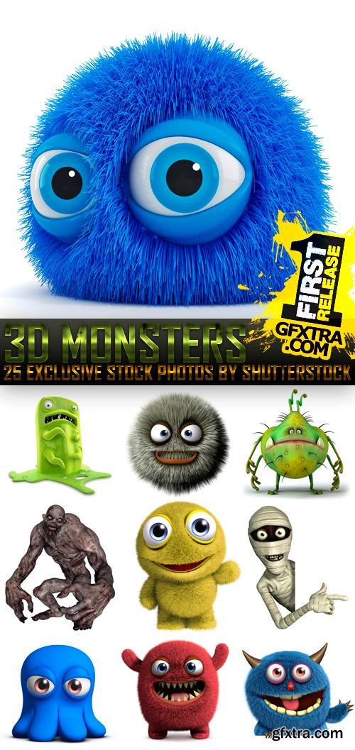 Amazing SS - 3D Monsters, 25xJPGs