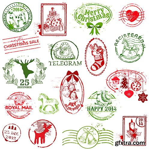 Elements and symbols for the New year and Christmas - VectorImages