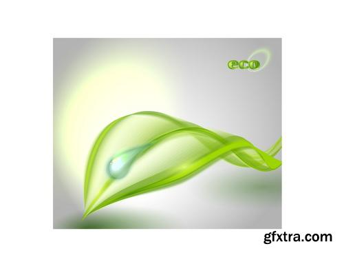 Amazing SS - Green leaves background 3, 25xEPS