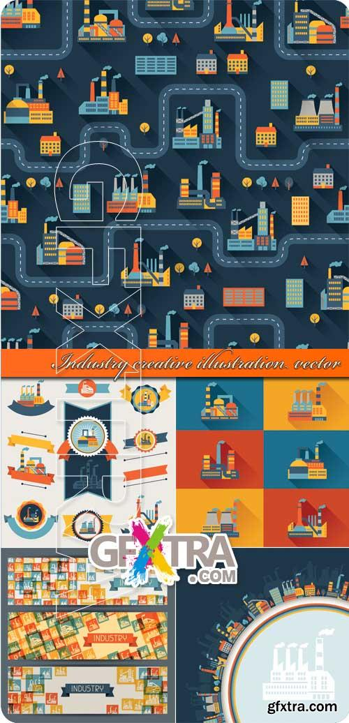 Industry creative illustration vector