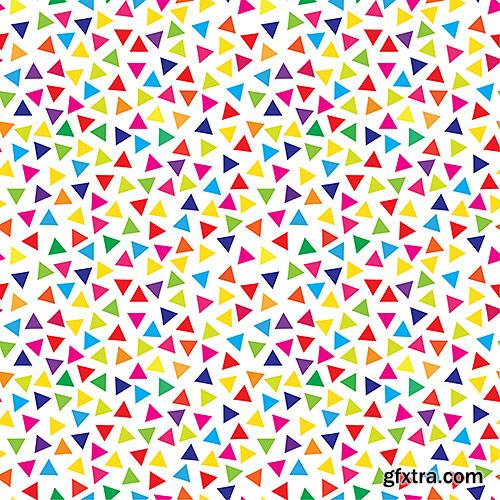 Creative mosaic backgrounds, textures - VectorImages