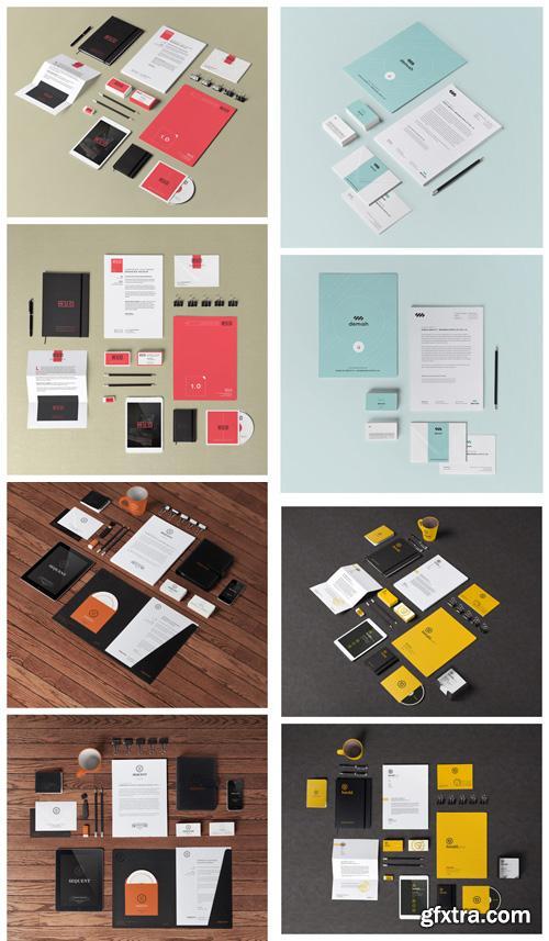 Stationery Branding Mock-Up Templates Vol 1-4