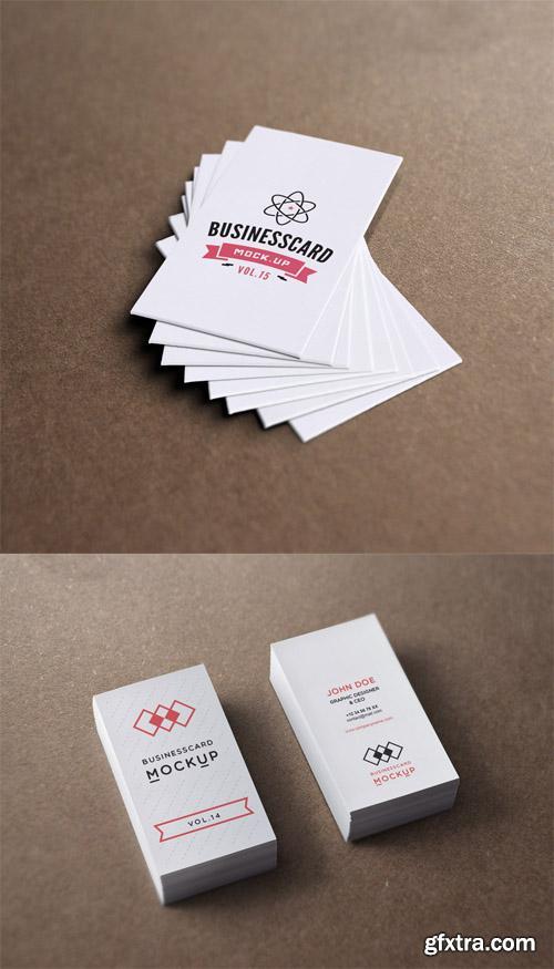 2 Business Card Mock Up Templates