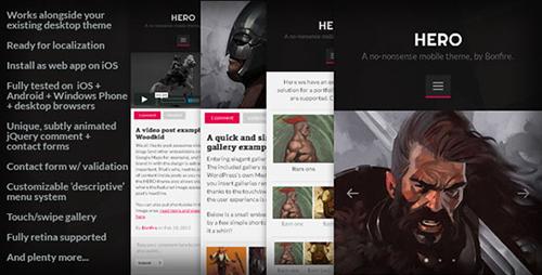 ThemeForest - HERO v1.8 - A no-nonsense mobile theme for WordPress