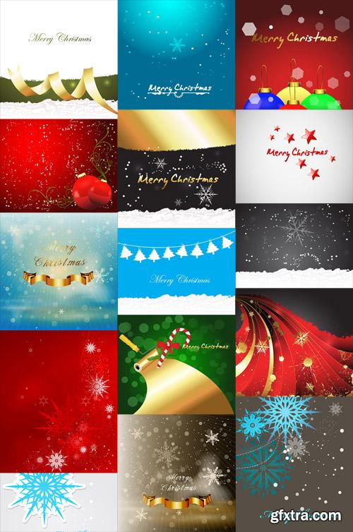 15 Christmas Vector Backgrounds
