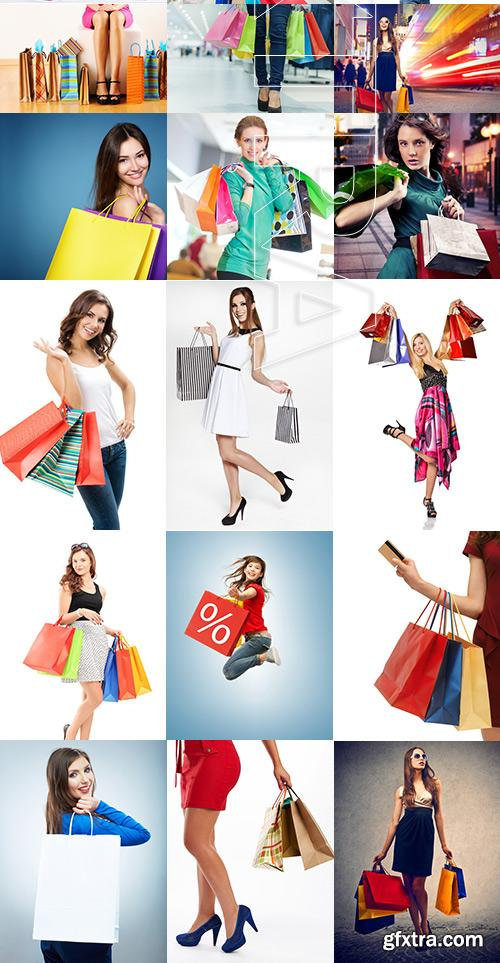 Amazing SS - Woman with shopping bags 6, 25xJPGs