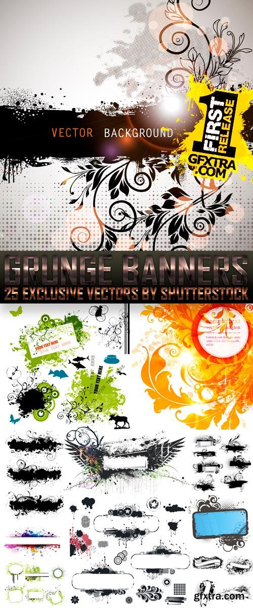 Amazing SS - Grunge Banners, 25xEPS