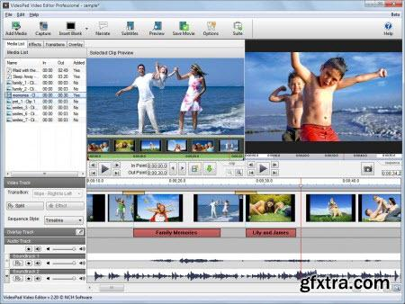 NCH VideoPad Video Editor Professional 3.14