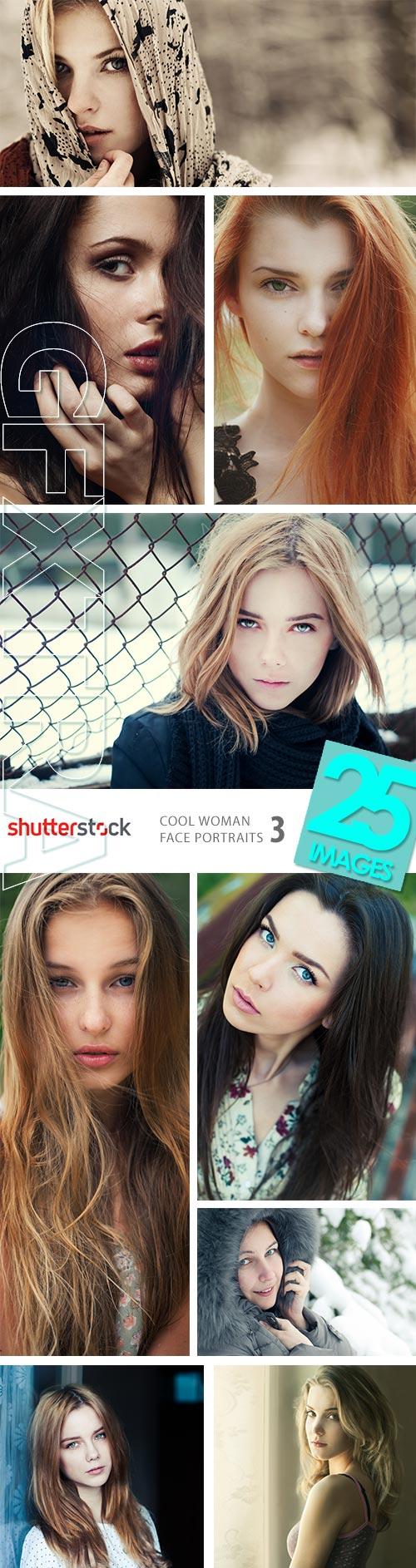 Cool Woman Face Portraits III, 25xJPGs