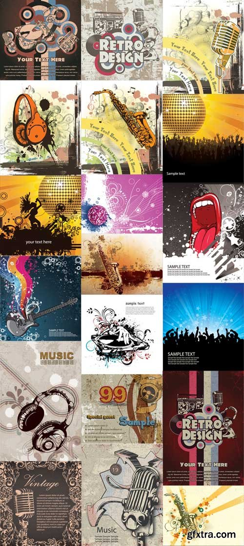 20 Music Vector Illustrations