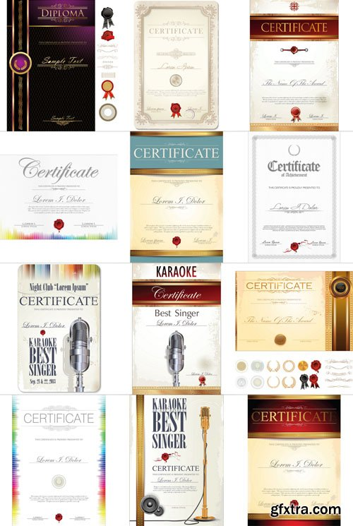 Certificates and Diplomas, 25xEPS