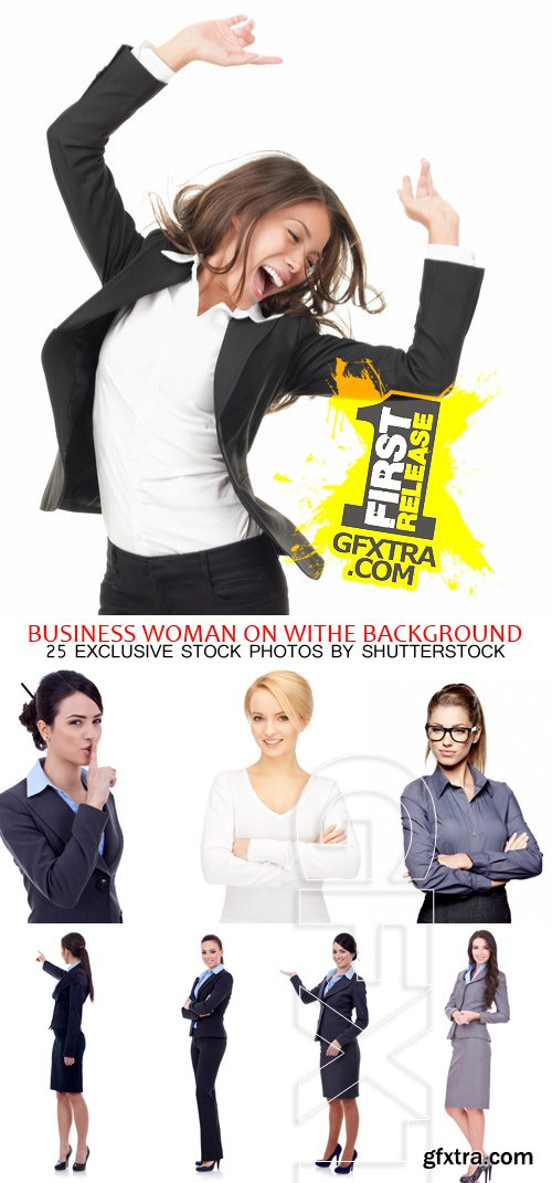 Amazing SS - Business Woman on White background, 25xJPGs