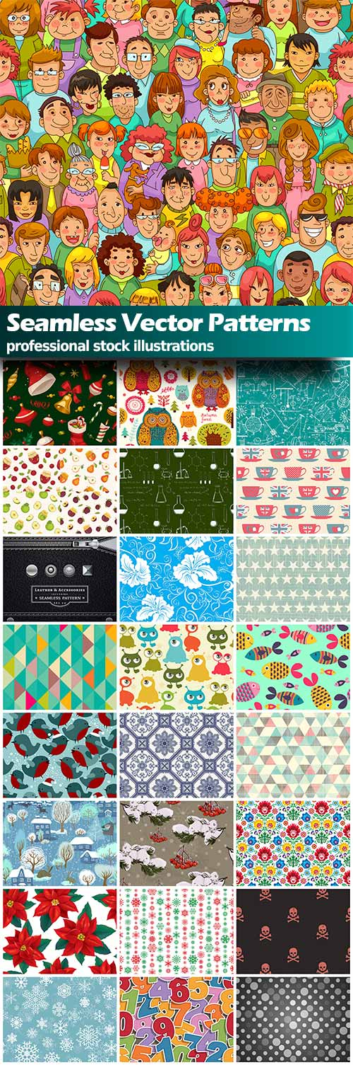 Vector Seamless Patterns - 25x EPS