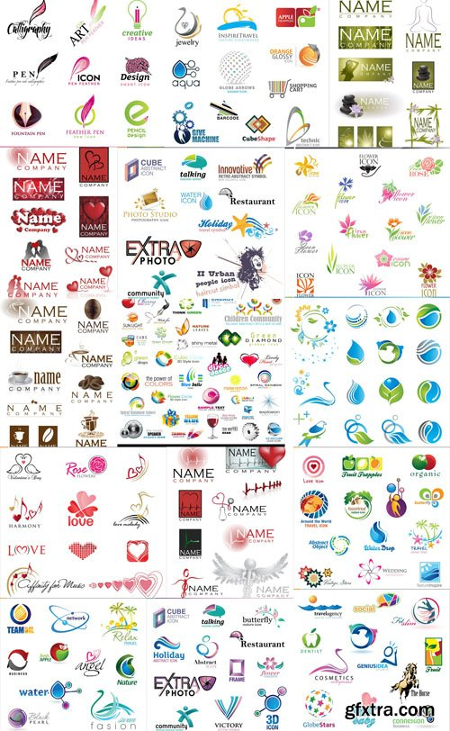 Collection of Logos vol.15, 25xEPS, AI