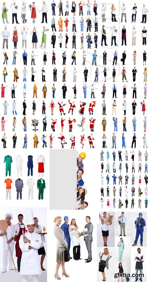Amazing SS - People Various Professions On White Background, 25xJPGs