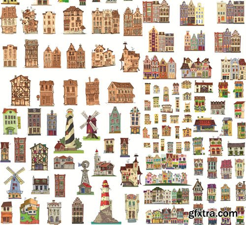 Animated Buildings, 25xEPS