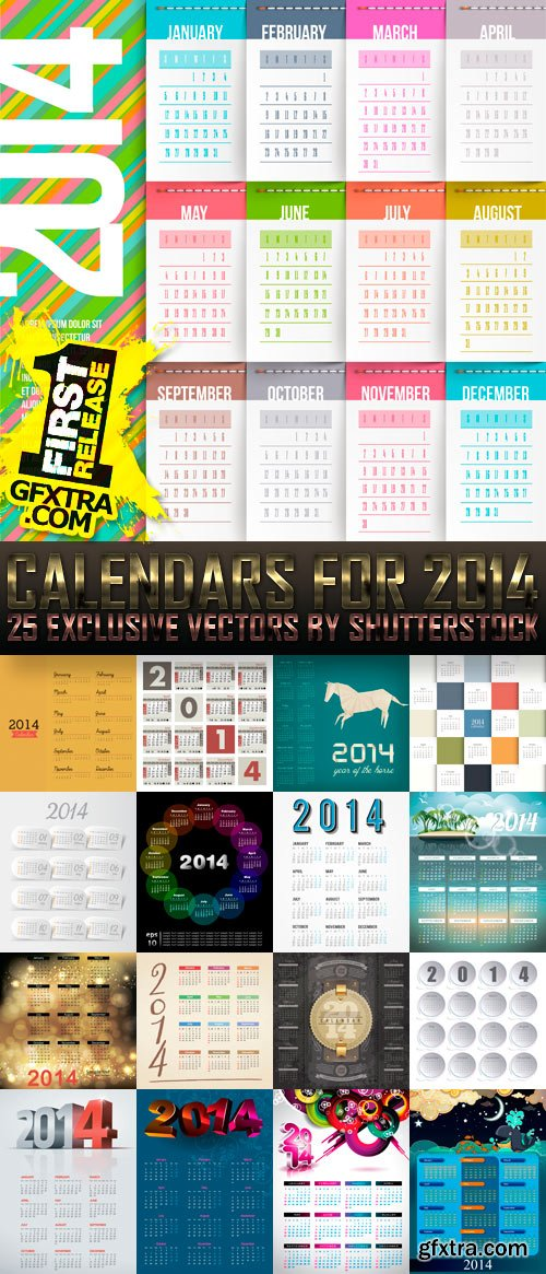 Amazing SS - Calendars for 2014 (vol.6), 25xEPS