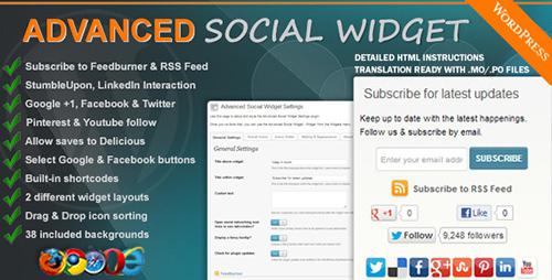 CodeСanyon - Advanced Social Widget v3.5.1