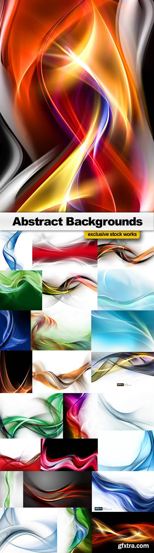 Abstract Backgrounds - 25 JPEG