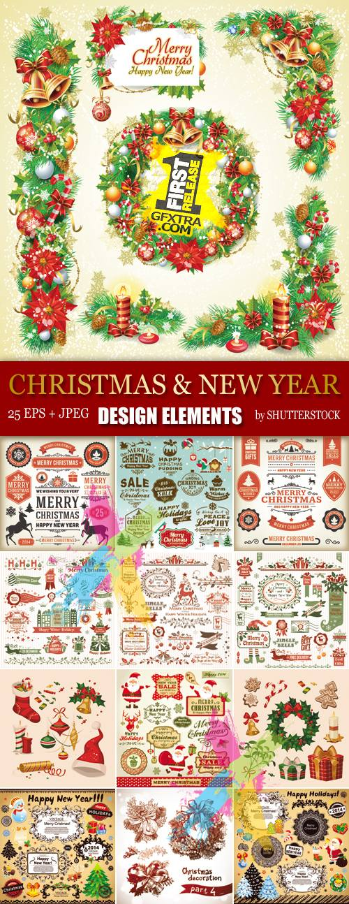 Stock Vector - Christmas & New Year Design Elements