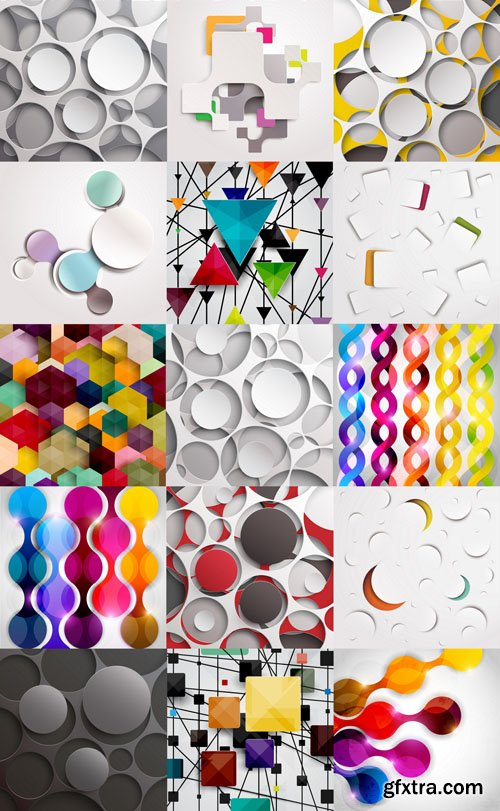 Collection of Vector Abstract Backgrounds Vol.44, 25xEPS