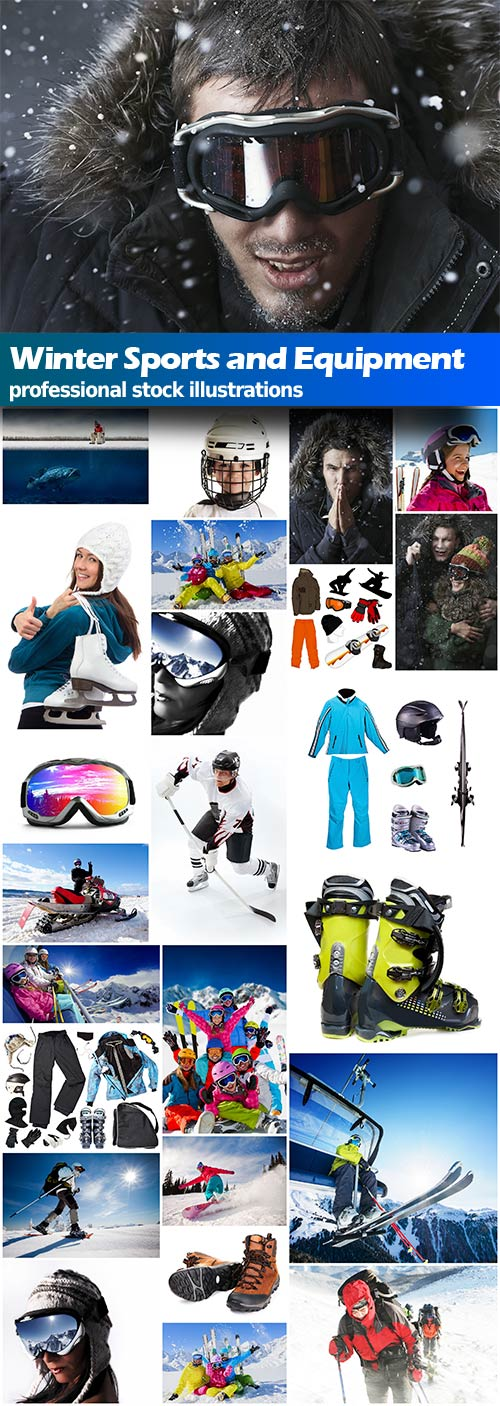 Winter Sports and equipment  - 25x JPEGs