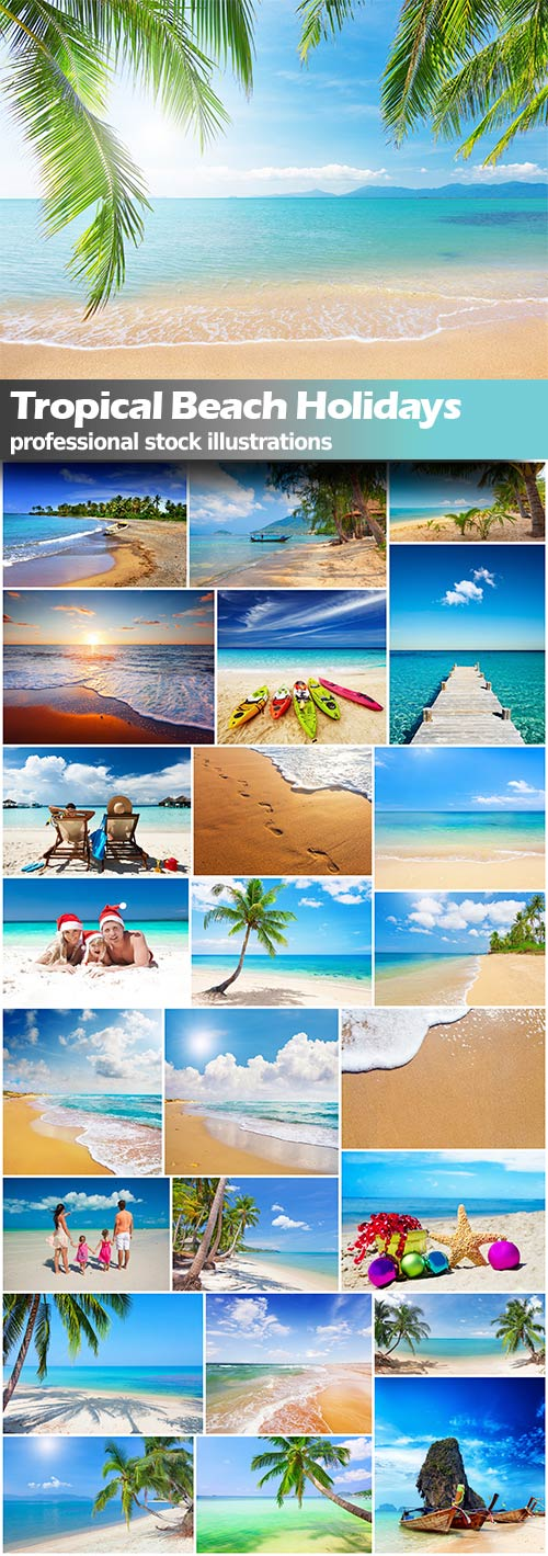 Tropical Beach Holidays - 25x JPEGs