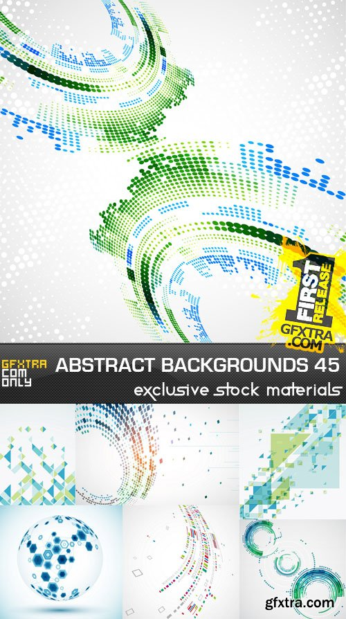Collection of Vector Abstract Backgrounds Vol.45, 25xEPS