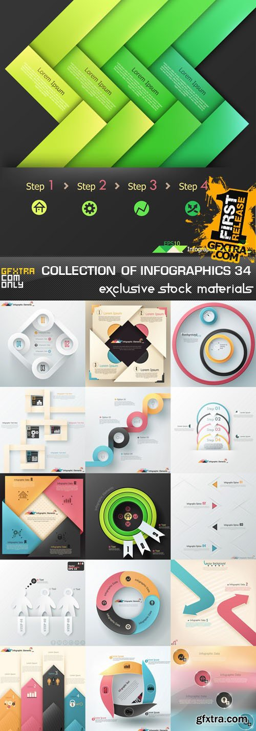 Collection of infographics vol.34, 25xEPS