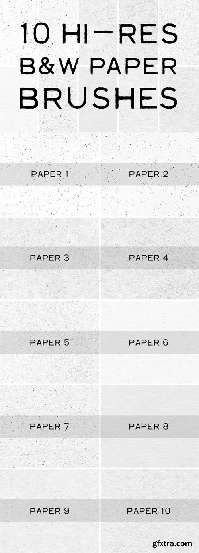 10 Hi Res Paper Brushes