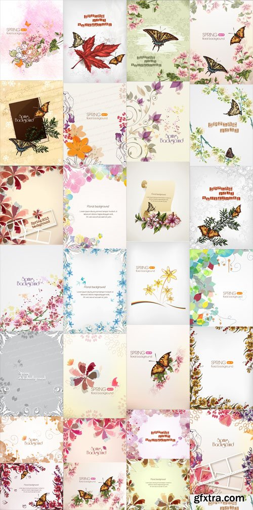27 Spring Floral Illustrations Set 1