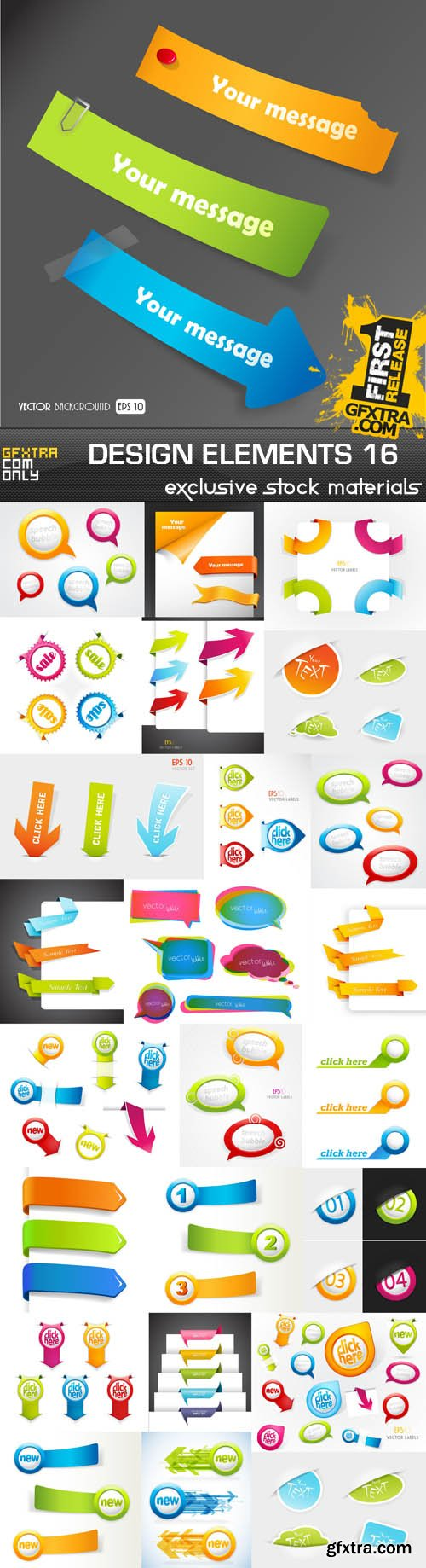 Collection of vector design elements vol.16, 15xEPS