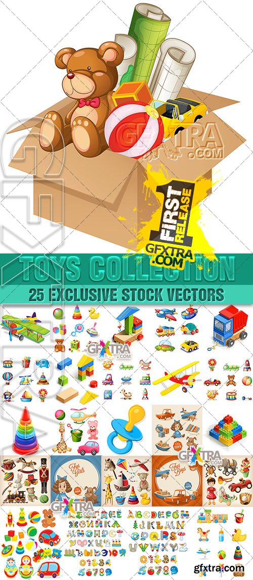Collection toys - Vector, 25xEPSs