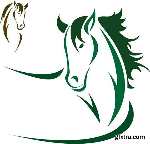 Horse Design Elements 25xEPS