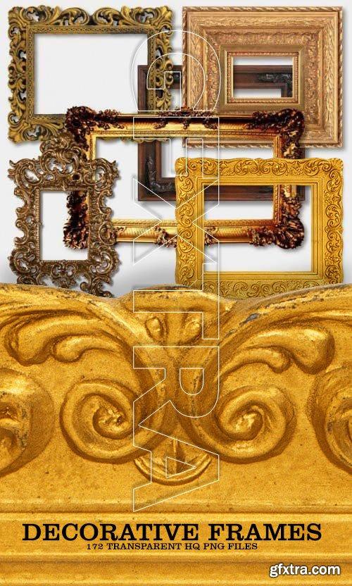 Decorative Frame Collection, 172xPNGs Transparent