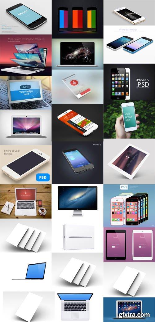 Apple Iphone IPad Macbook Mock Up Templates
