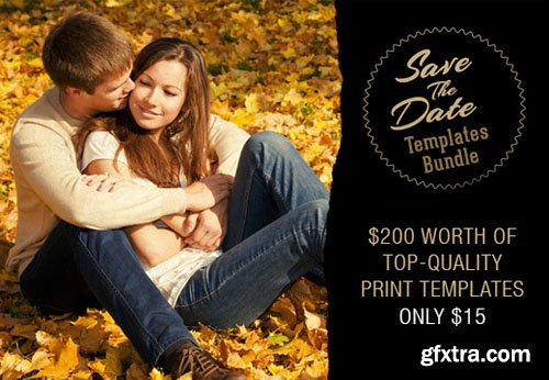 Save the Date Bundle: $200 worth of Top-Quality Print Templates