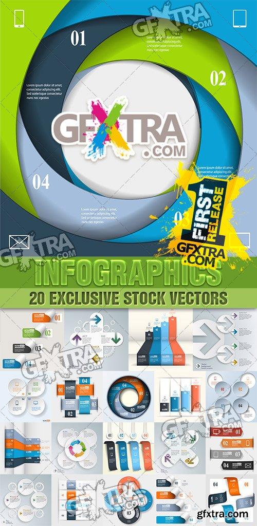 Design templates for enterprises, infographics 6 - VectorStock