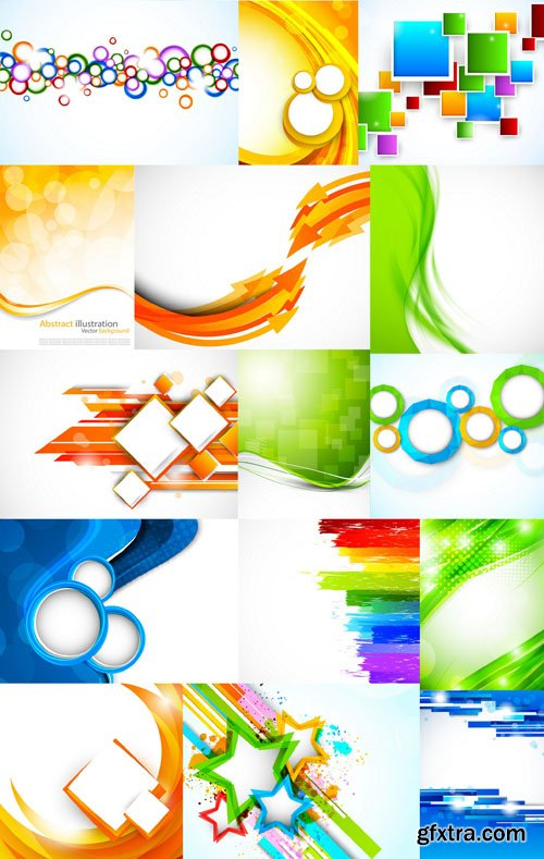 Collection of Vector Abstract Backgrounds Vol.48, 25xEPS
