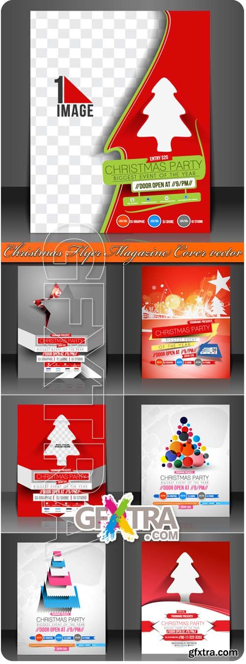 2014 Christmas Flyer Magazine Cover vector