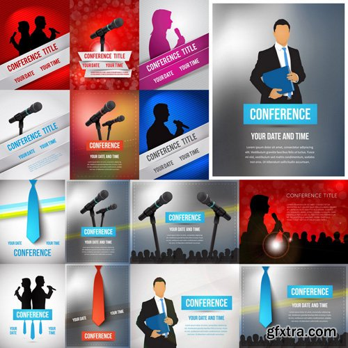 Conference Cover Design - 25 Vector